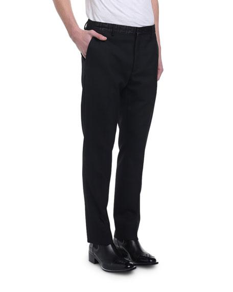 Fendi Men's FF Organza-Waist Straight-Leg Trousers