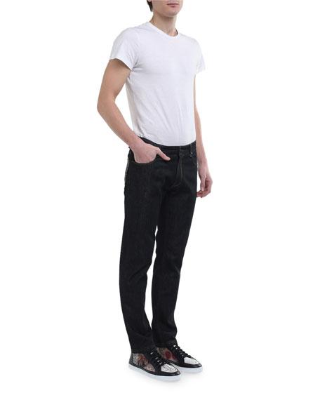 Fendi Men's FF Pocket Straight-Leg Jeans