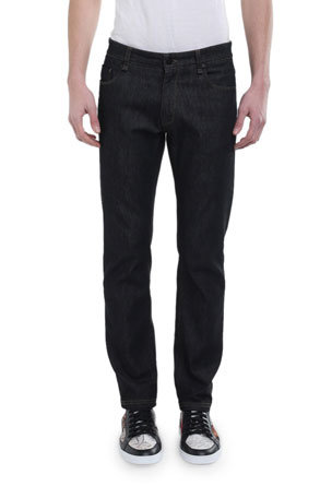 Fendi Men's FF Pocket Straight-Leg Jeans