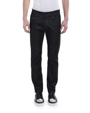 36ce6a73ae0 Fendi Men's FF Pocket Straight-Leg Jeans