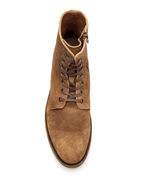 Frye Frye Bowery Distressed Suede Side-Zip Boots w/ Laces