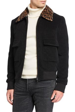 Fendi Multicolor X Fila Logo Stripe Sleeve Track Jacket for men