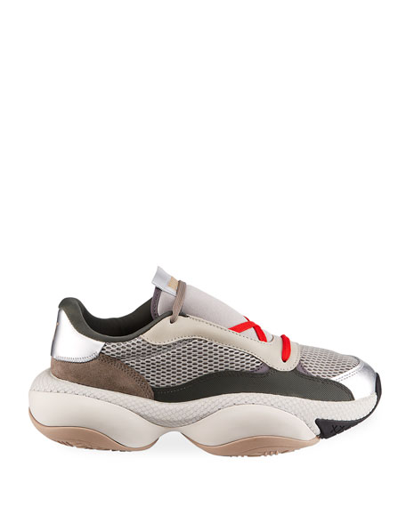 Puma Men's Alteration PN2 Chunky Mesh & Leather Trainer Sneakers