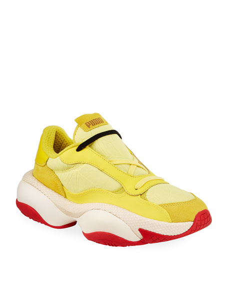 Puma Men's Alteration Crinkled Trainer Sneakers with Leather/Suede Trim