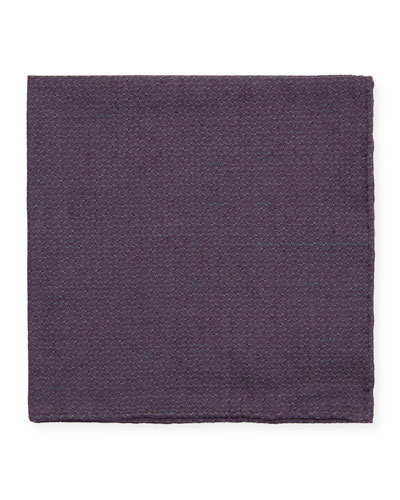 Jacquard Woven Pocket Square  Purple