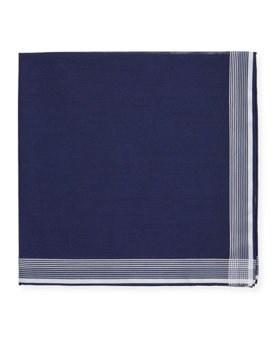 Satin-Edge Cotton Pocket Square