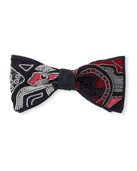 Title of Work Funquest Eye Beaded Bowtie