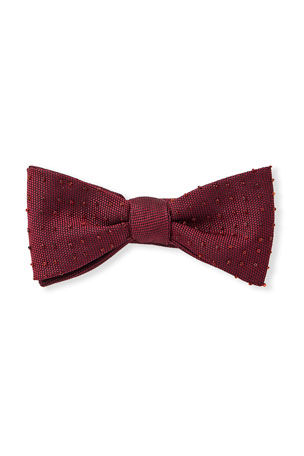 Title of Work Silk Pique Beaded Bow Tie