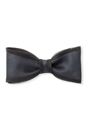 Title of Work Gabardine Bow Tie with Organza Piping