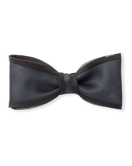 Title of Work Twill Bow Tie with Organza Piping