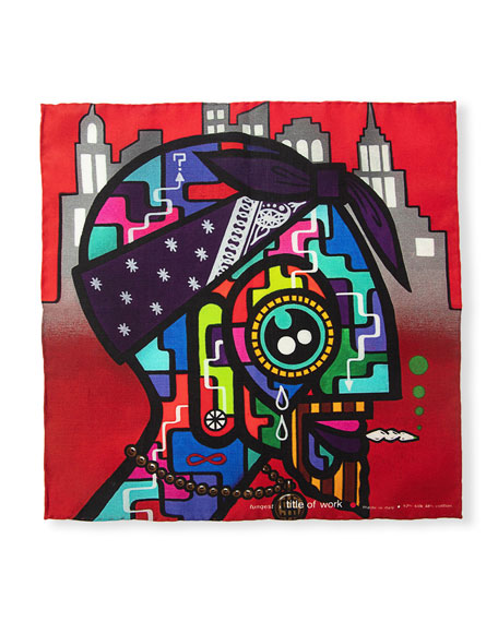 Title of Work Funquest Silk Pocket Square