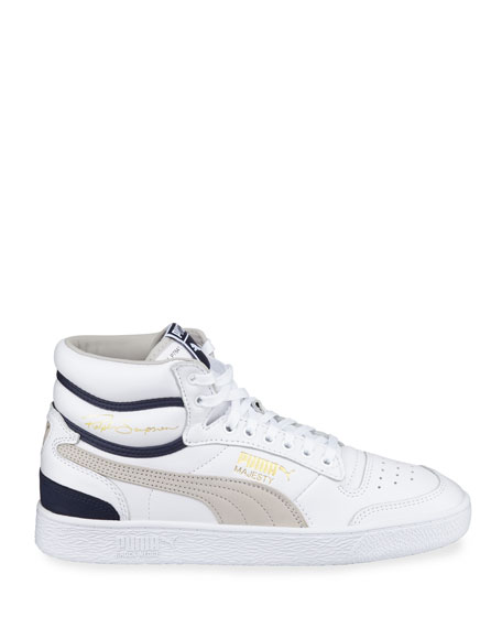Puma Men's Ralph Sampson Mid OG Leather Sneakers