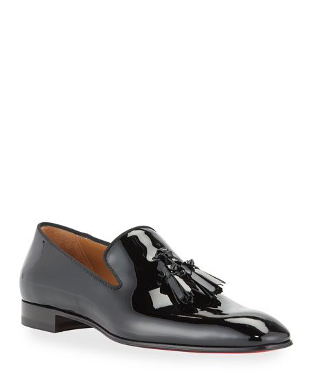 Christian Louboutin Mens Dandelion Patent Leather Tassel Loafers by Christian Louboutin