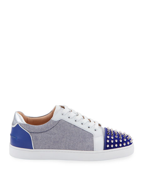 Christian Louboutin Men's Seavaste Spiked Low-Top Sneakers