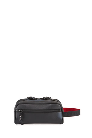 Christian Louboutin Men's Blaster Leather Toiletry Bag