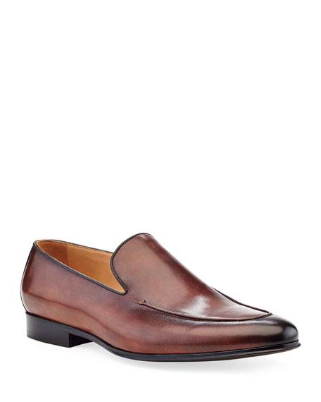 Ike Behar Men's Leather Loafer Dress Shoes