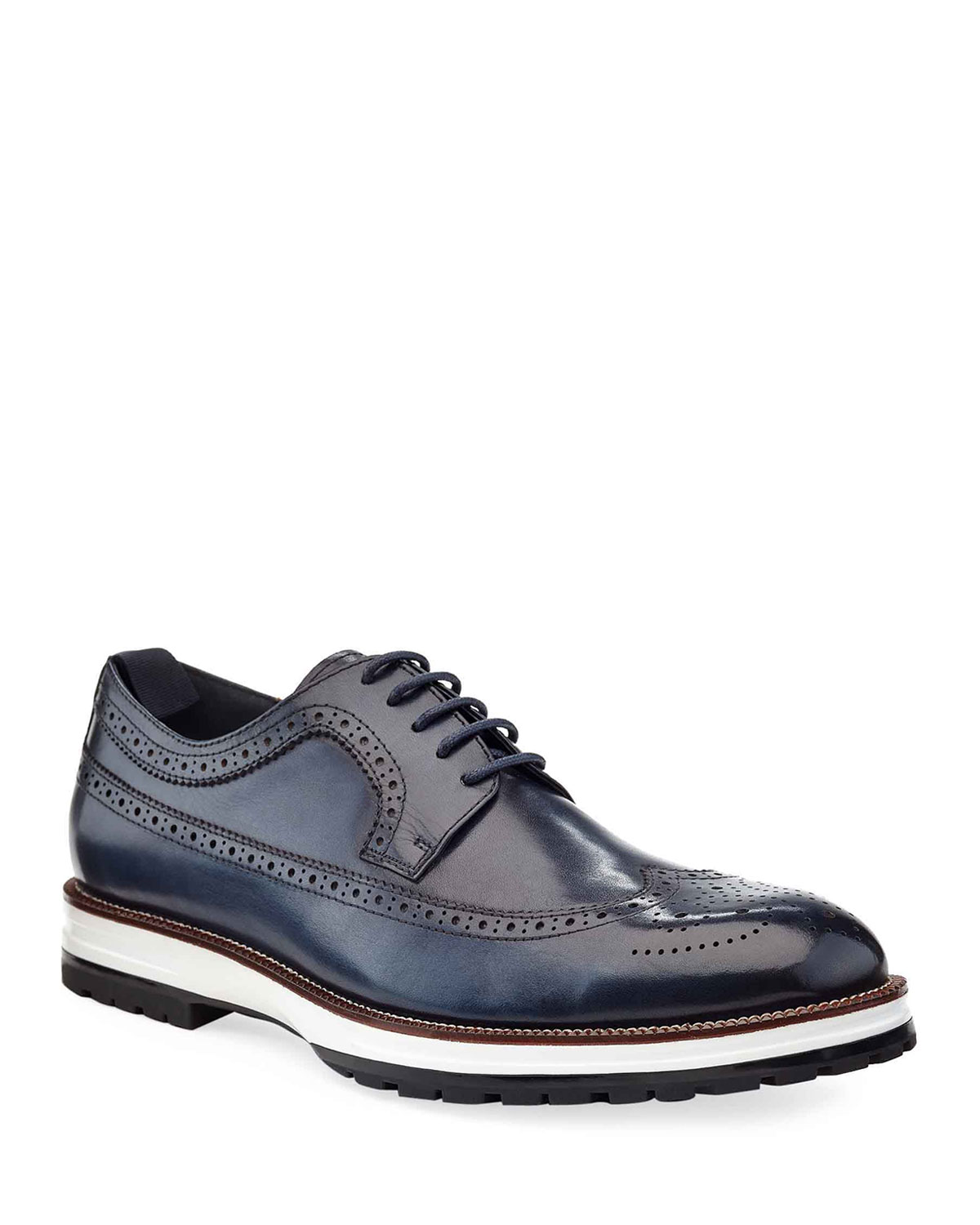 Ike Behar Men's Louis Hybrid Wing-Tip Leather Derby Shoes