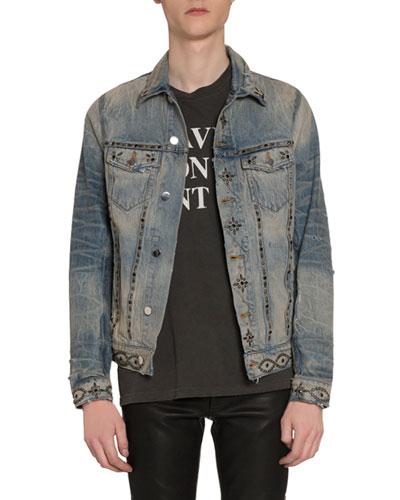 Men's Studded Denim Jacket