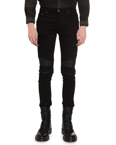 Men's MX2 Skinny Moto Stretch-Denim Jeans