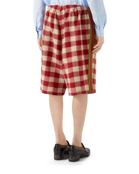 Gucci Men's Buffalo Plaid Wool Shorts
