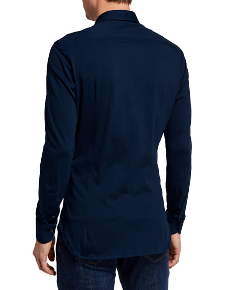 Boglioli Men's Cotton Jersey Sport Shirt