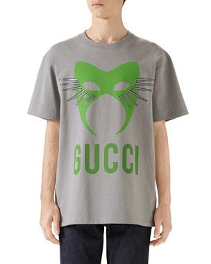 32feba14028 Gucci Men's Capsule Mask Heavy Cotton T-Shirt