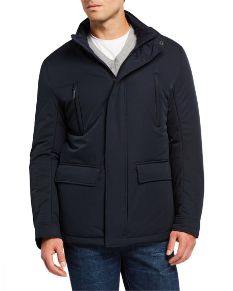 Image 2 of 3: Emporio Armani Men's Front-Pocket Weather-Resistant Jacket