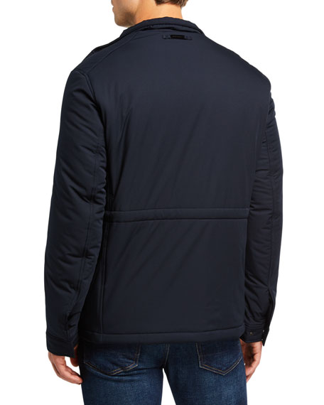 Image 3 of 3: Emporio Armani Men's Front-Pocket Weather-Resistant Jacket