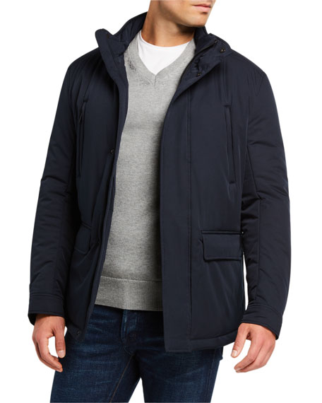 Image 1 of 3: Emporio Armani Men's Front-Pocket Weather-Resistant Jacket