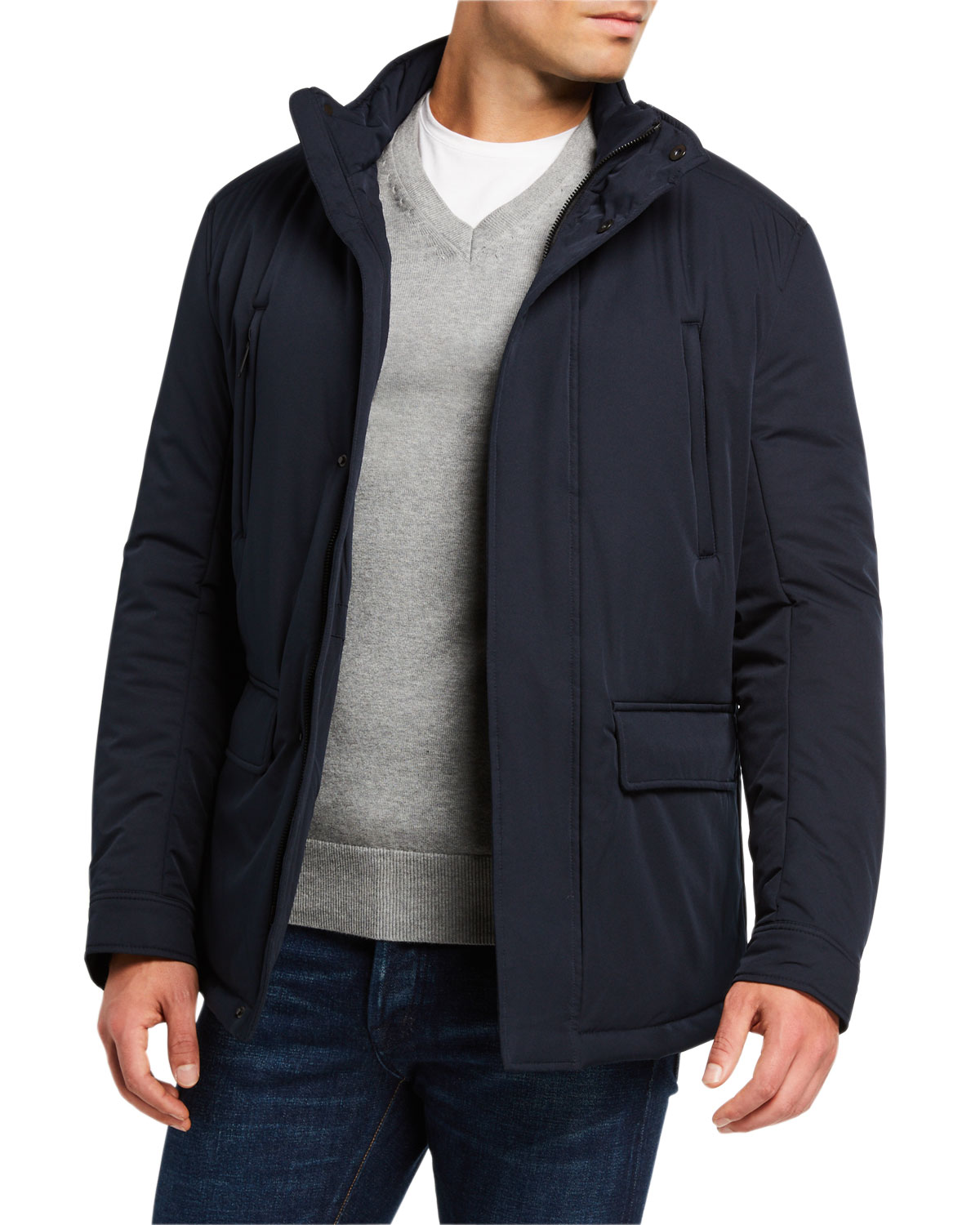 Emporio Armani Men's Front-Pocket Weather-Resistant Jacket