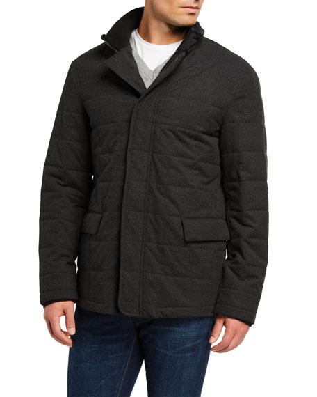 Image 2 of 3: Emporio Armani Men's Quilted Zip-Front Jacket