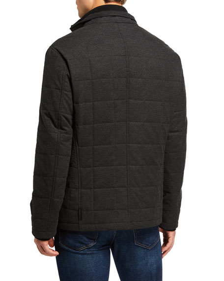 Image 3 of 3: Emporio Armani Men's Quilted Zip-Front Jacket