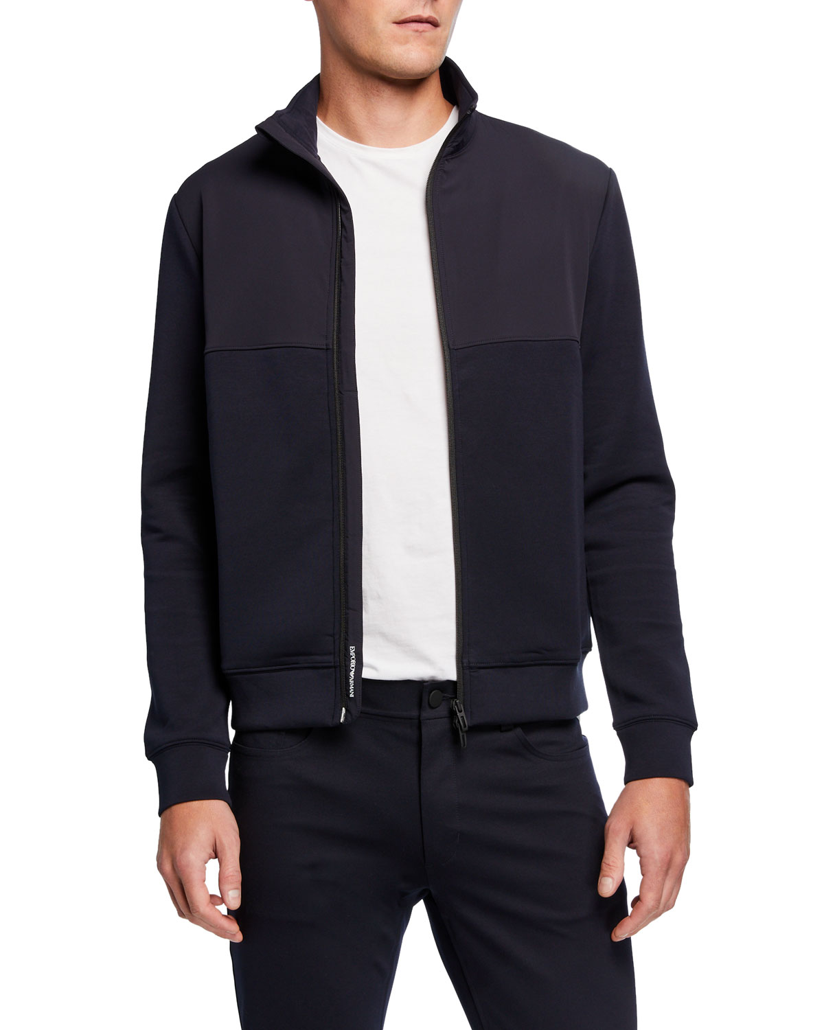 Emporio Armani Men's Double Jersey Travel Capsule Jacket