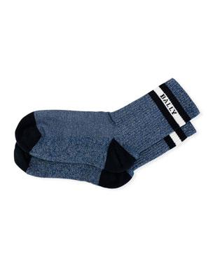a66c08aa Bally Men's Trainspotting Logo Banded Tube Socks