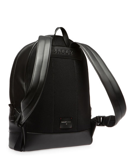 Image 2 of 3: Men's Leather Trainspotting-Stripe Backpack