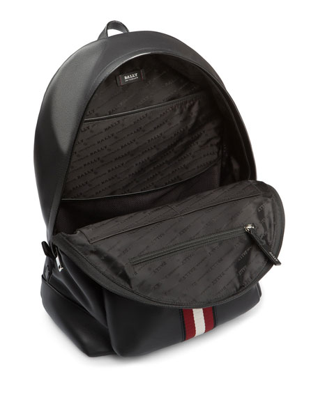 Image 3 of 3: Men's Leather Trainspotting-Stripe Backpack