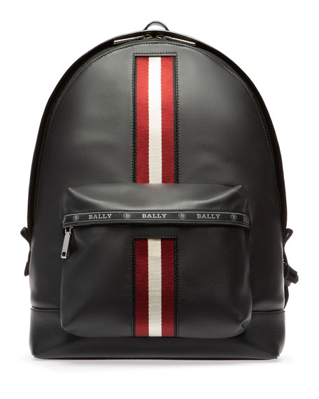 Image 1 of 3: Men's Leather Trainspotting-Stripe Backpack