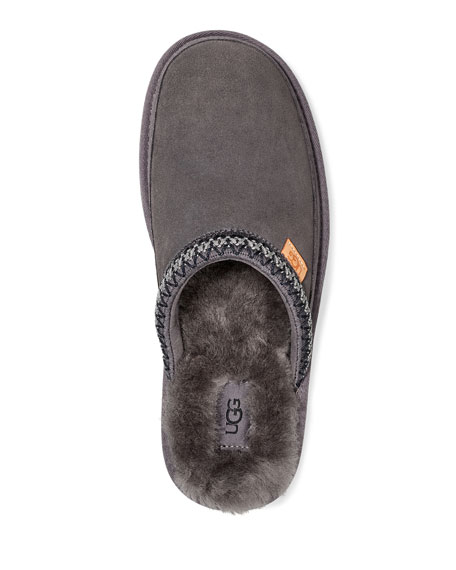 UGG Men's Tasman Fur-Lined Suede Slippers