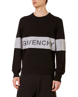 03cbed23e53a Givenchy Men's Tricolor Logo Sweater