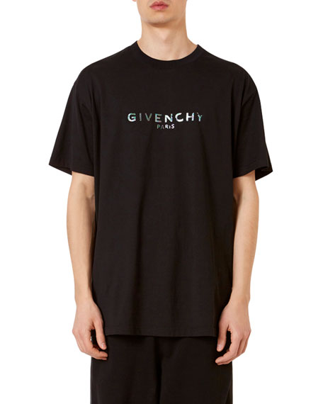 Image 1 of 2: Givenchy Men's Logo-Typographic Oversized-Fit T-Shirt