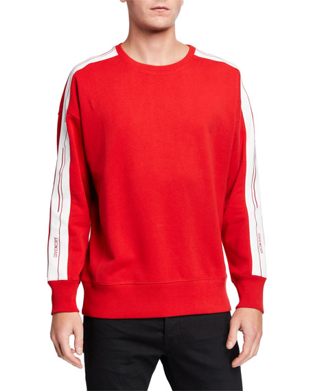 Givenchy Men's Crewneck Sweatshirt with Logo Taping