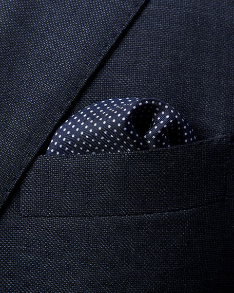 Eton Men's Polka Dot Pocket Square