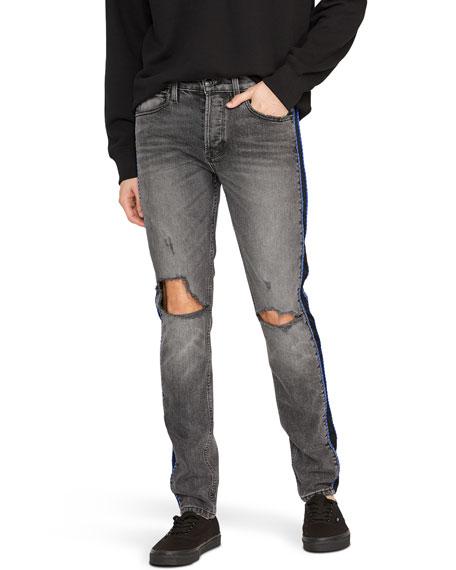 Hudson Men's Axl Distressed Jeans w/ Side Stripe