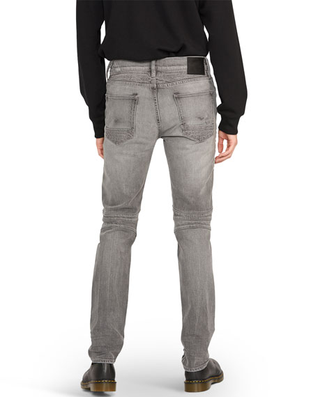Hudson Men's Blinder Biker Distressed Moto Jeans