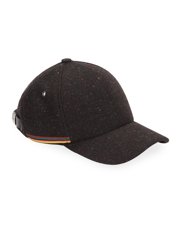 mens-multi-stripe-wool-baseball-cap by paul-smith