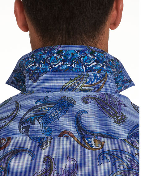 Robert Graham Men's Notre Dame Paisley Sport Shirt
