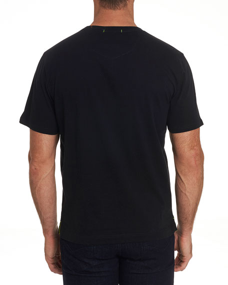 Robert Graham Men's Geo Skull Graphic Crewneck T-Shirt