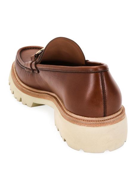Salvatore Ferragamo Men's Bleecker Lug-Sole Leather Loafers