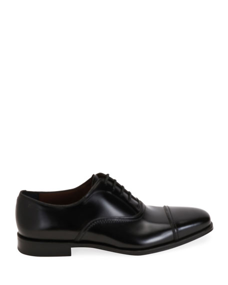 Salvatore Ferragamo Men's Seul Leather Oxford Shoes