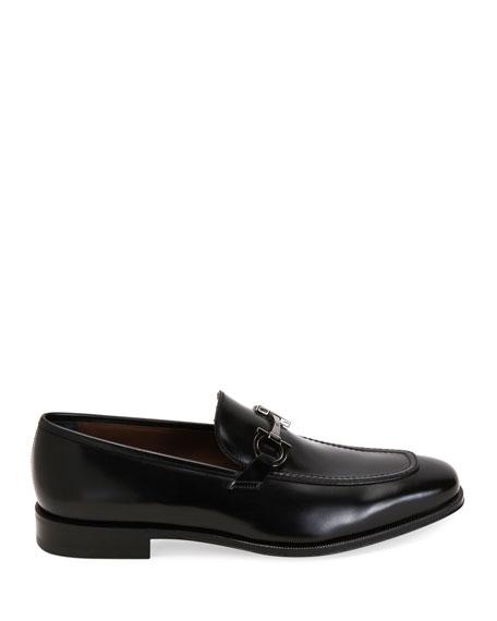Salvatore Ferragamo Men's Seattle Gancini-Bit Leather Loafers